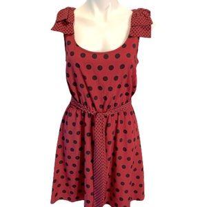 NEW Lauren Conrad Red and Black Polka Dot Dress.